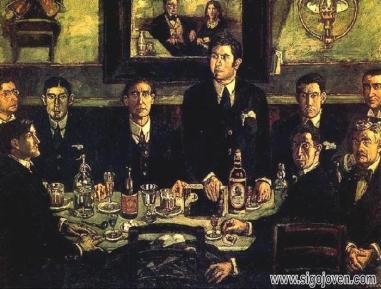 La tertulia en el café de Pombo, de José Gutiérrez Solana