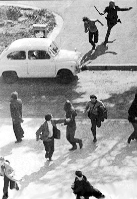 Manifestación estudiantil en España 1968