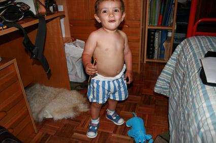 Mi sobrino Angel Luis, hojo de mi hermano Luis.