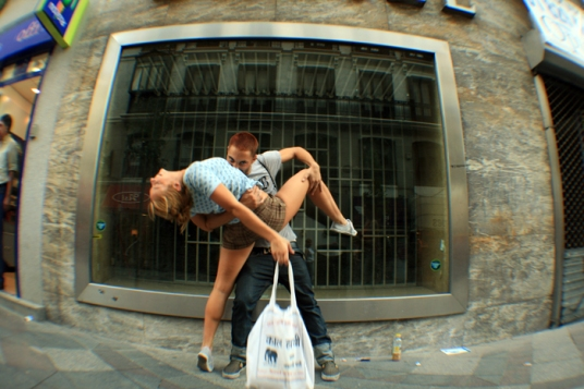 El beso en Sol, Madrid