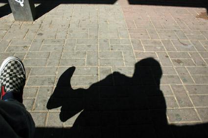 Mi sombra en Aveiro, es la sombra de lo que quiero llegar a reflefar.