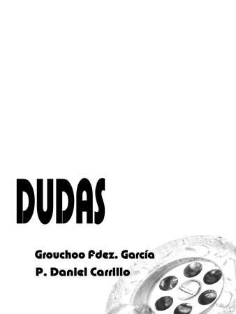 Bocetos de la portada del libro DUDAS