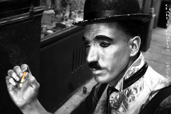Charlie Chaplin en la C/ Postas, Madrid II