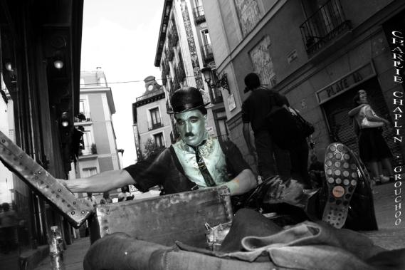 Charlie Chaplin en la C/ Postas, Madrid I