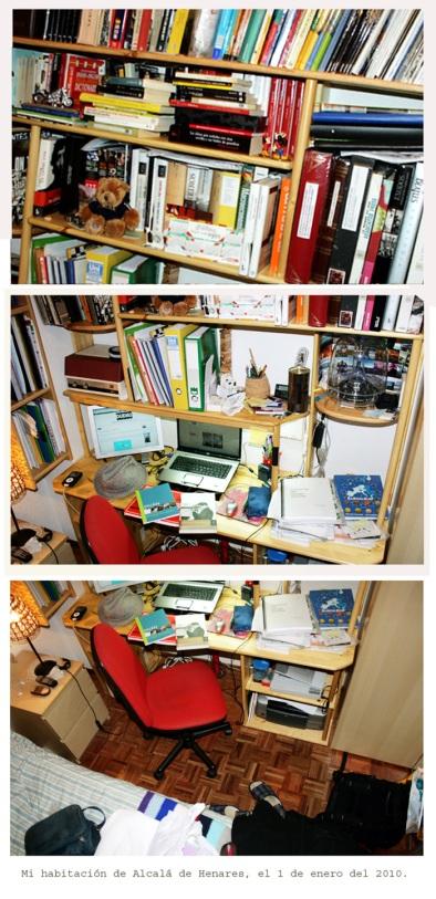 Mi habitacón de Alcalá de Henares, el 1 de enero del 2010.