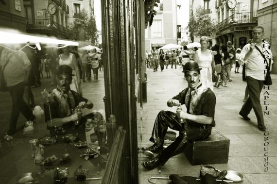 Charlie Chaplin en la C/ Postas, Madrid IV