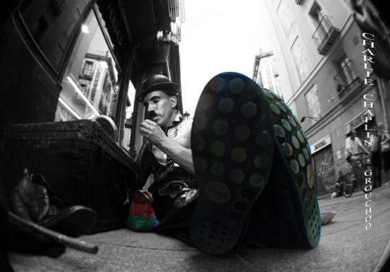 Charlie Chaplin en la C/ Postas, Madrid V