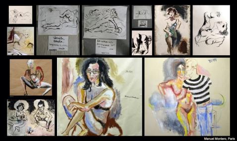 Manuel Montero, pintor español en París, Collage 3 creado por Grouchoo