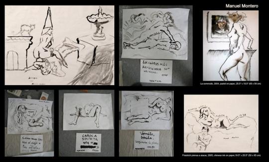 Manuel Montero, pintor español en París. Collage 3 creado por Grouch