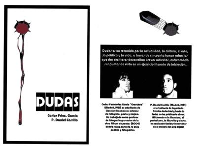 Portada del libro DUDAS (año 2006)