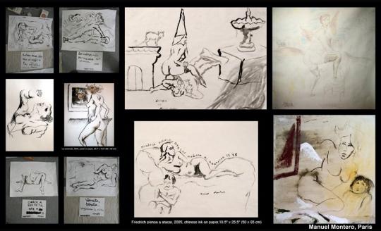 Manuel Montero, pintor español en París, Collage 2 creado por Grouchoo