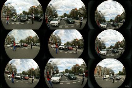 La 70º de las mejores fotografías de Grouchoo, Serie Fish Eye (61-70): Malabares en los semáforos de la Castellana.