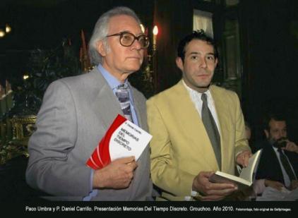 Paco Umbral y P. Daniel Carrillo en Memorias Del Tiempo Discreto.