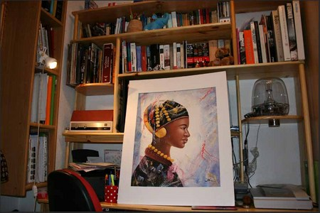 El cuadro en el escritorio
