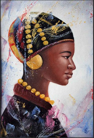 Rostro de una mujer Africana, pintor croata Felix