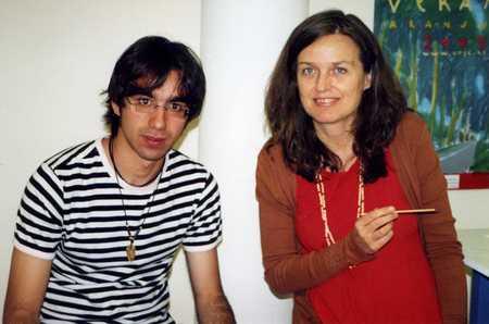 Grouchoo y Ouka Leele en el verano del 2005, Aranjuez.