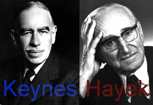 Keynes & Hayek by Grouchoo