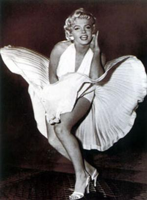 Marilyn Monroe con Faldas a lo loco