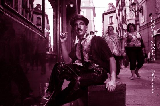Charlie Chaplin en la C/ Postas, Madrid VIII
