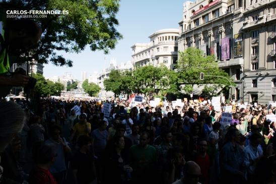 Calle Alcalá antes de llegar a Sol