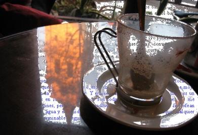 Reflejos en una cafetería de Alcalá de Henares