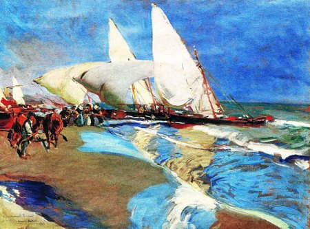 La playa de Valencia, óleo sobre lienzo de Joaquín Sorolla