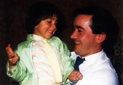 Yo y mi padre en la boda de mi tio Manolo