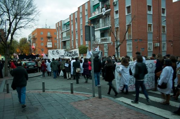 Manifestación a favor de la Sanidad Pública, diciembre del 2012.
