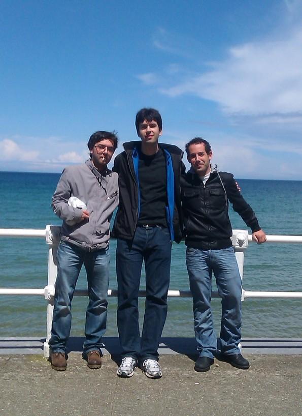 Martín Sotelo,Andima Hermosilla y Daniel Carrillo (Gijón, 2012)