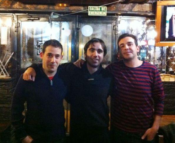 Daniel Carrillo, Carlos 'Grouchoo' Fernández y Daniel Sande. Alcalá de Henares, 4 de Enero de 2013