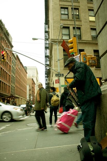 10. Saxofonista en Manhattan, N.Y.