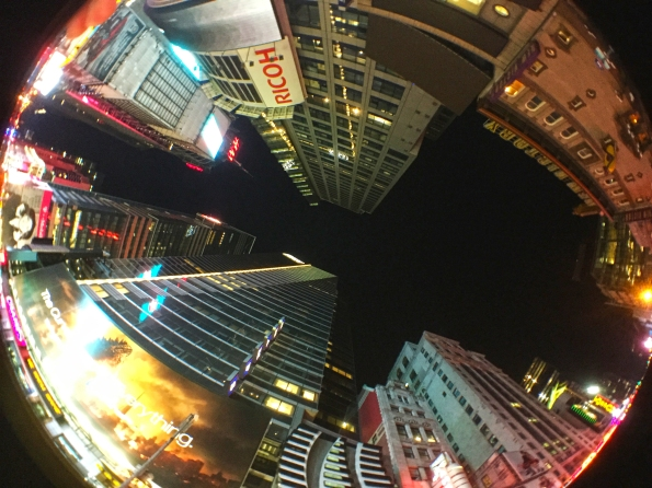 6. Fish eyes at Time Square
