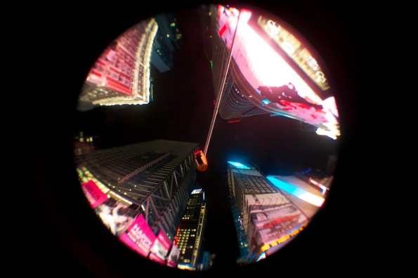 4. Fish eyes en Time Square