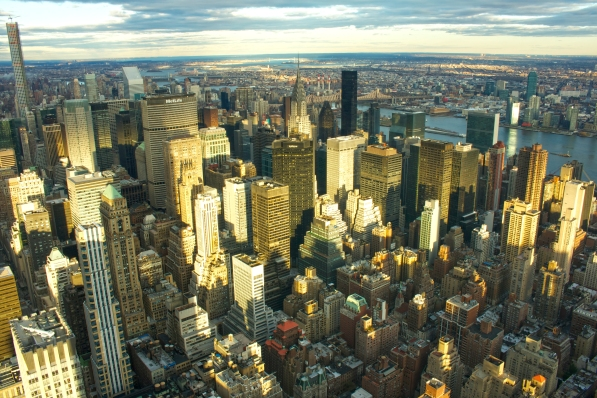 Manhattan desde el Empire State, Nueva York. 26 del 12 del 2015