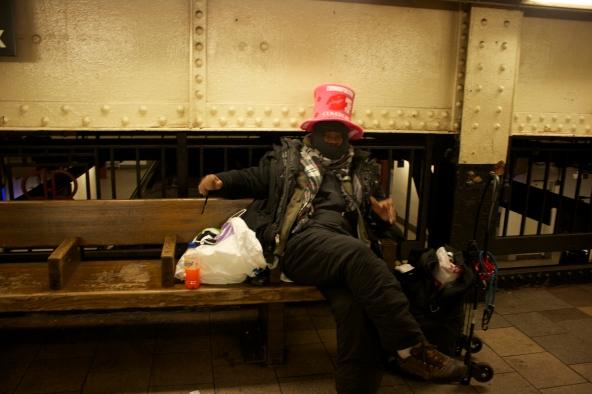 Noche vieja en el metro de NY